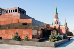 Mausoleum on the Red Square in Moscow Stock Photos