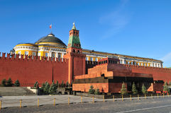 Mausoleum in Red Square in Moscow Stock Image