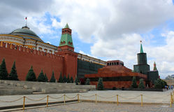 Mausoleum on the Red Square in Moscow Royalty Free Stock Photos