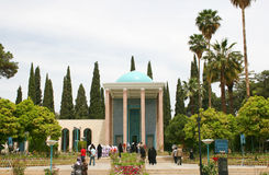 Mausoleum of Saadi park in Shiraz Stock Image