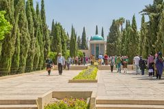 Mausoleum of Saadi park Stock Photo