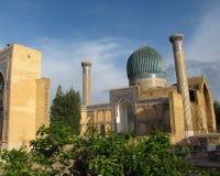 Mausoleum at Samarkand. Gur-e Amir Mausoleum in Samarkand Royalty Free Stock Photos