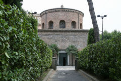 The Mausoleum of Santa Costanza in Rome. The facade of the Mausoleum of Santa Costanza in Rome, Italy royalty free stock photography