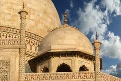 Mausoleum Taj Mahal ist gelegen in Agra, Indien Lizenzfreies Stockfoto