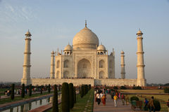 Mausoleum Taj Mahal  is a  located in Agra, India Stock Image