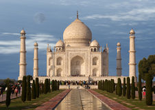 Mausoleum Taj Mahal  is a  located in Agra, India Royalty Free Stock Photo