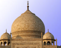 Mausoleum Taj Mahal  is a  located in Agra, India Royalty Free Stock Photos