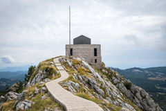 Mausoleum on the top of mount Lovchen in Montenegro Stock Images