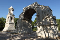 Mausoleum and triumphal arch Royalty Free Stock Images