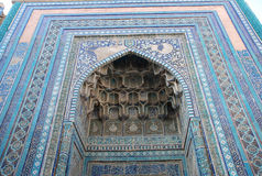Mausoleum Tugli Tekin in Shahi Zinda necropolis stock image