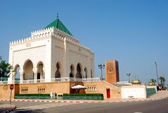 Mausoleum of V. Mohamed, Rabat, Morocco. Moroccan kings are resting in this mausoleum in the heart of Rabat Stock Image