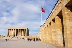 Mausoleum van Ataturk in Ankara Turkije Royalty-vrije Stock Foto's