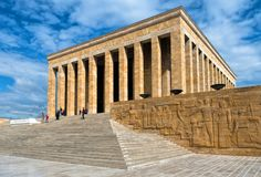 Mausoleum van Ataturk in de hoofdstad van Turkije royalty-vrije stock foto