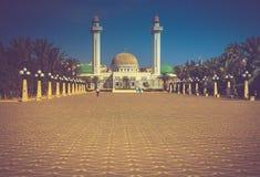 Mausoleum von Habib Bourgiba in Monastir, Tunesien lizenzfreies stockbild