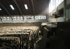 Mausoleum von Qin Shi Huang lizenzfreies stockbild