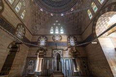 Mausoleum von Sultan Al Zaher Barquq und von Söhnen am Komplex von Al Nasr Farag Ibn Barquq-Komplex, Stadt der Toten, Kairo, Ägyp Lizenzfreie Stockbilder
