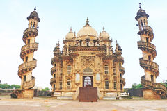Mausoleum of the Wazir of Junagadh, Mohabbat Maqbara Palace juna. This delightful spiral staircase building that was once home to the Nawabs of Junagadh. Its Stock Photos