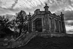 The mausoleum of William, Second Earl of Lowther. The mausoleum of William, Second Earl of Lowther, in the graveyard of St Michael's Church, Lowther, Cumbria Royalty Free Stock Photos