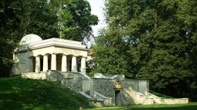 Mausoleum of Yugoslav soldiers, South Slavic mausoleum in the park, monumental neoclassicism from 1926, died in Olomouc