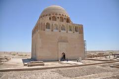 Mausoleumen av den Seljuk linjalen Ahmad Sanjar Royaltyfria Foton