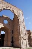 mausoleumen fördärvar samarkand uzbekistan Royaltyfri Fotografi