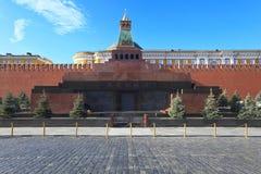 mausoleummoscow röd russia fyrkant Arkivbild