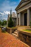 Mausoleums at Oakland Cemetary in Atlanta, Georgia. Royalty Free Stock Photos