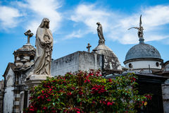 The mausoleums of the Recoleta Cemetery Royalty Free Stock Photo