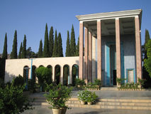 mausoleumsaadi shiraz Arkivbilder