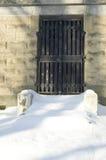 Mausoleumstür Stockfoto