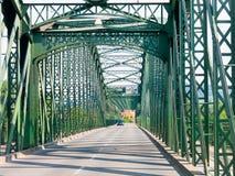 Mauterner bro över Danube River, Krems, Österrike Royaltyfri Bild