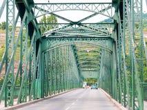 Mauterner bro över Danube River, Krems, Österrike Fotografering för Bildbyråer