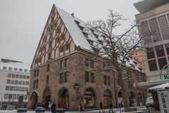 The Mauthalle in winter time. Nuremberg, Germany. Royalty Free Stock Images