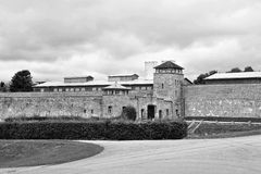 Mauthausen concentration camp entry gate Royalty Free Stock Photography