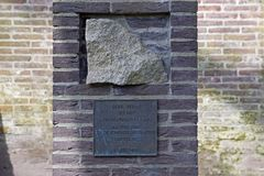Mauthausen memorial on the Old cemetery memorial to die in Hilversum Stock Images