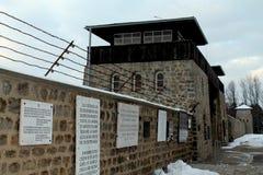 MAUTHAUSEN, OOSTENRIJK: 2012. Het Gedenkteken van de Mauthausenholocaust; Mauthausenconcentratiekamp Stock Foto