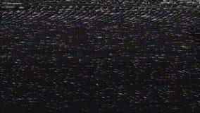 Mauvais bruit de cheminement de VHS banque de vidéos