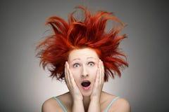 Mauvais jour de cheveu Photographie stock libre de droits