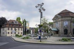 Mauvais Kissingen - ville de station thermale images stock