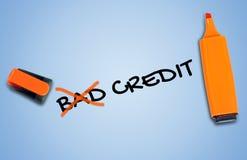 Mauvais mot de crédit Image stock