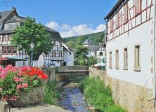 Mauvais Muenstereifel, Eifel, Allemagne Image libre de droits