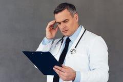 Mauvais résultats médicaux Images libres de droits