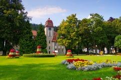 Mauvais Reinerz Duszniki-Zdroj, station thermale de santé en vallée de Klodzko photographie stock libre de droits