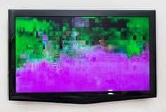 Mauvais signal numérique à la TV Image stock