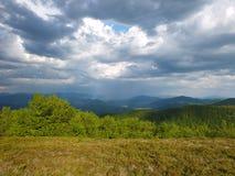 Mauvais temps en montagnes Image stock