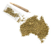 Mauvaise herbe sous forme d'Australie et joint (série) Photo stock