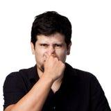 Mauvaise odeur ! Photo libre de droits