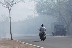 Mauvaise pollution Photographie stock libre de droits
