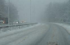 Mauvaise route de Milou en hiver Image libre de droits