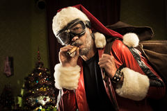 Mauvaise Santa vient Photo stock